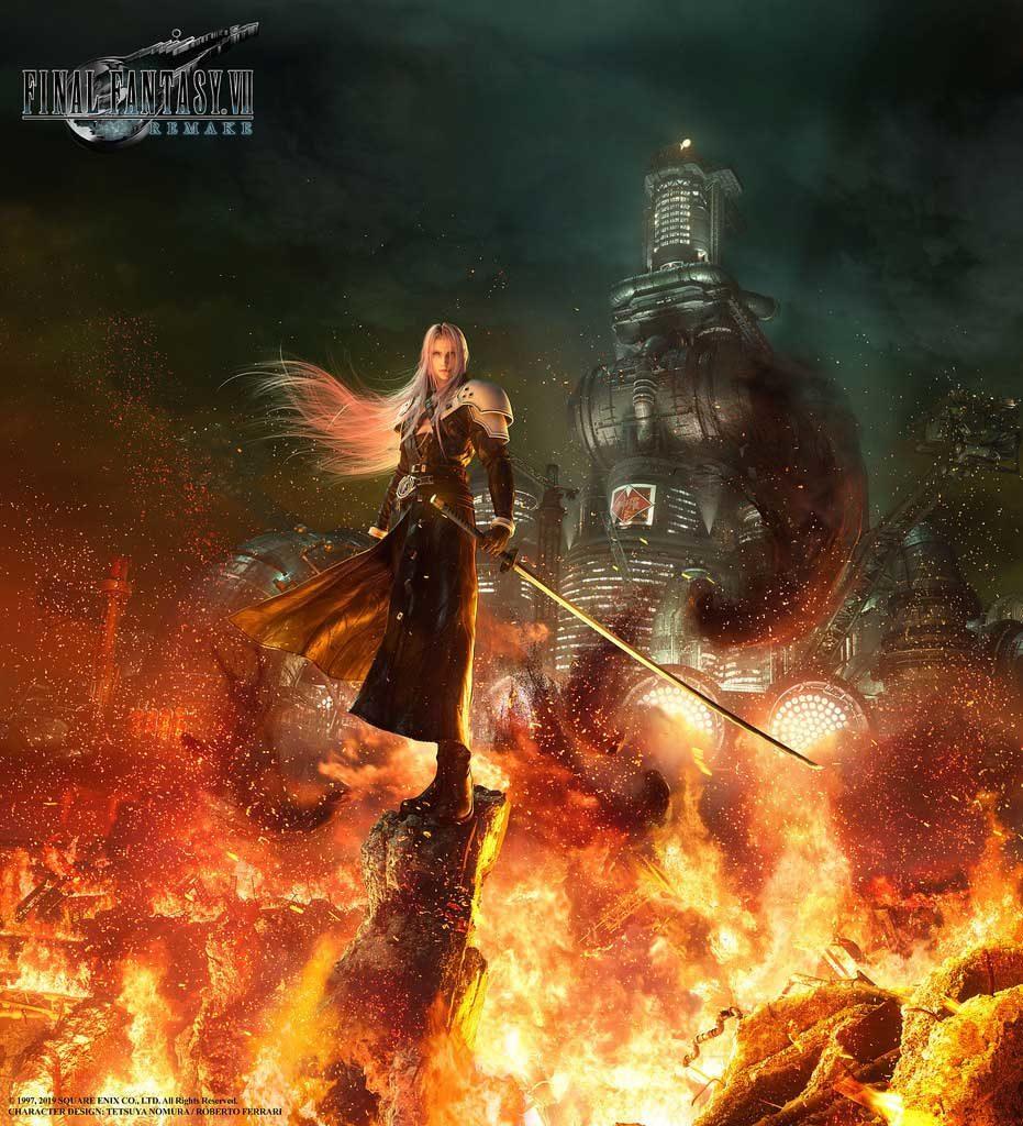 Mostrata una nuova immagine di Sephiroth di Final Fantasy VII Remake