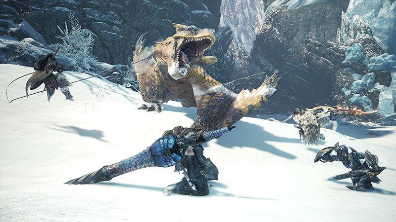 Monster Hunter World, Clutch Claw, Rampino, Tigrex, Dlc, nargacuga, Banbaro, nuove mosse