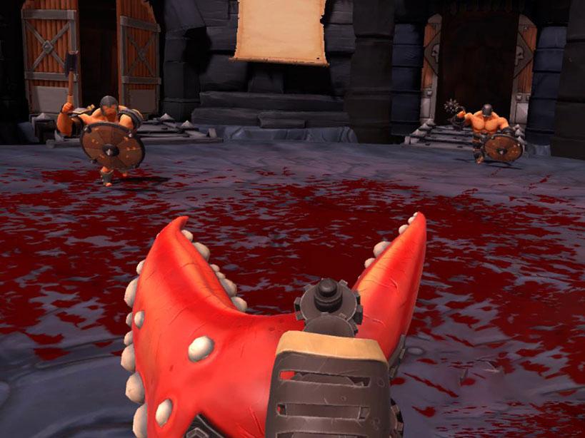 Le chele di granchio usate come arma, in attesa di due nemici