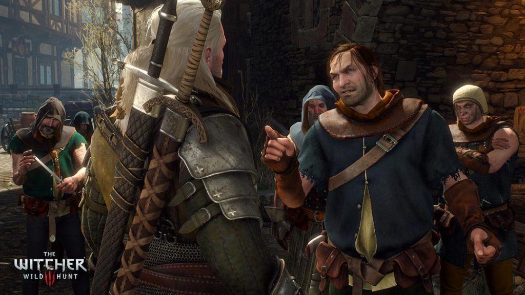 Geralt affronta a muso duro i briganti di città