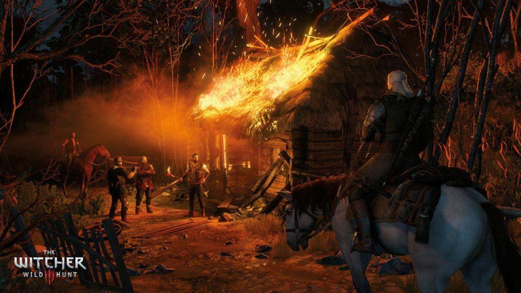 Geralt s'imbatte in un gruppo di razziatori, e decide se ignorarli o intervenire
