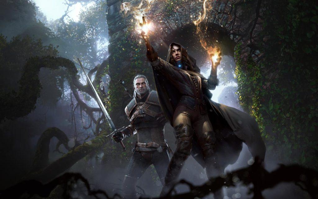 Geralt e Yennefer combattono fianco a fianco, supportandosi a vicenda