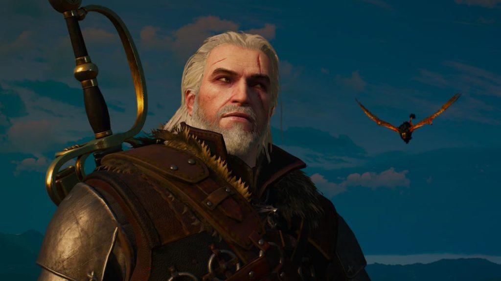 Geralt si accorge dell'attacco a sorpresa del Grifone