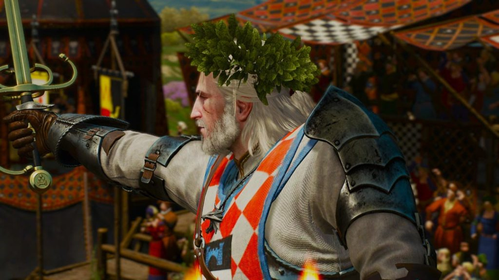 Geralt vince il torneo cavalleresco in The Witcher 3
