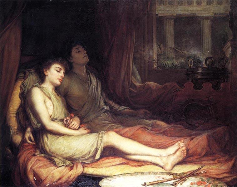 Hypnos e suo fratello Thanatos - John William Waterhouse, 1874