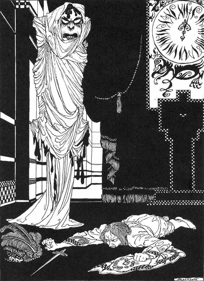 Il Principe Prospero affronta la Morte Rossa - Arthur Rackham, 1935