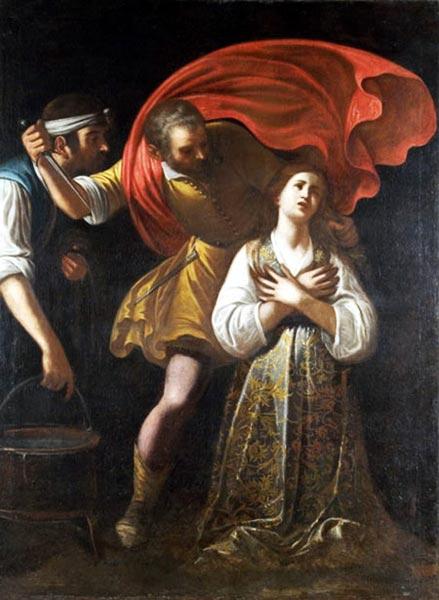 Il martirio di Santa Lucia - Mario Minniti - XVII secolo