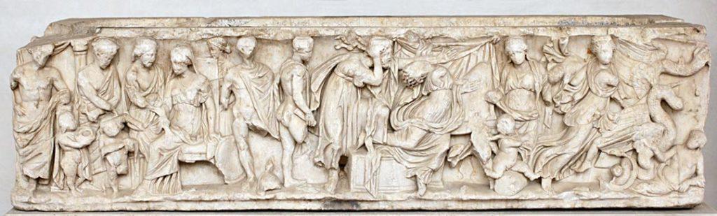 Il mito di Medea - sarcofago greco di marmo, 150 - 170 d.C.