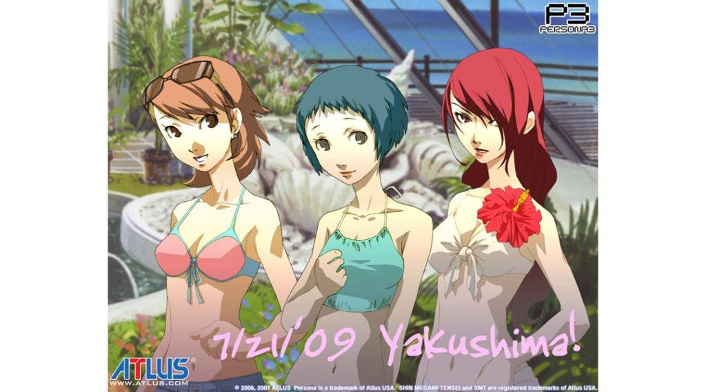 Una foto della gita scolastica a Yakushima, con alcuni personaggi di Persona 3