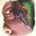 Una larva di illithid in azione