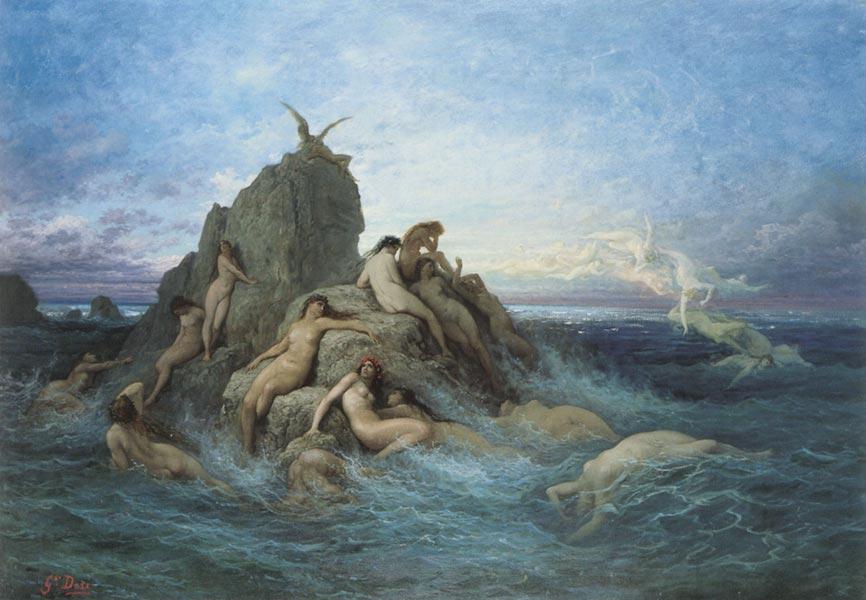Le Oceanine, Naiadi del mare - Gustave Doré, 1860