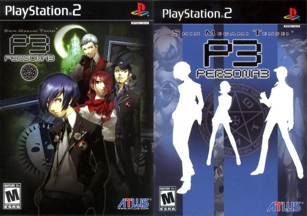Le copertine di Persona 3 per PlayStation 2