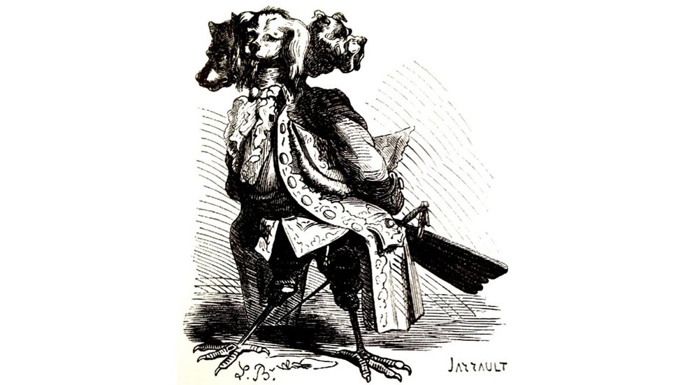Naberius nel Dictionnaire Infernal di Jacques Collin de Plancy - illustrazione di Louis Le Breton, incisione di Jarrault - inizio del XIX secolo