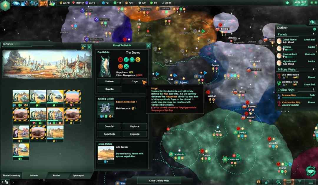 Mappa di gioco di Stellaris