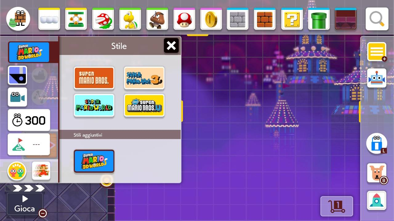 Super Mario Maker Editor Stili