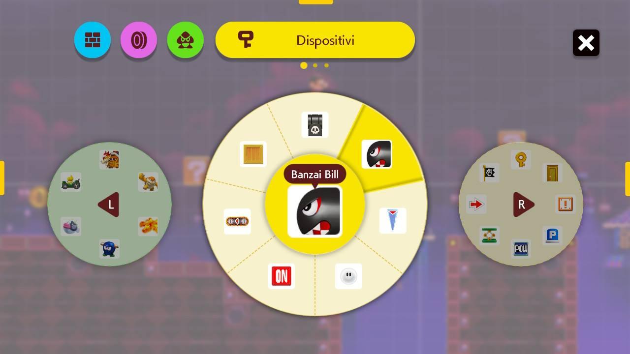 Super Mario Maker 2 Editor oggetti