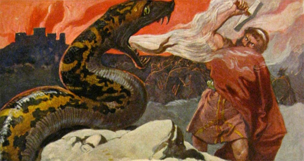 Thor and the Midgard Serpent - Emil Doepler, 1905