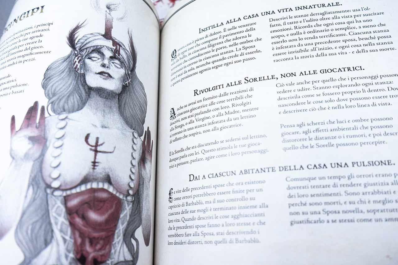 la sposa di barbablù illustrazione