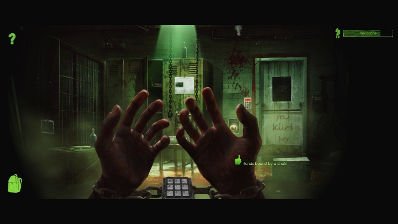 una scena di play with me, escape room per pc
