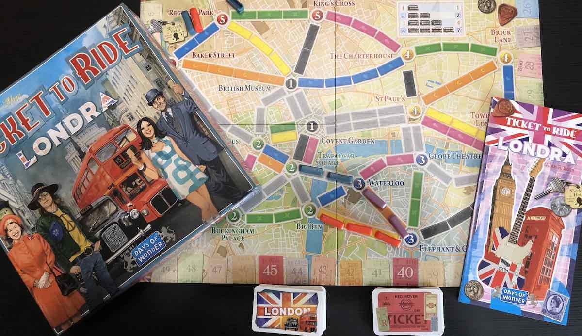 Ticket to Ride Londra - Plancia
