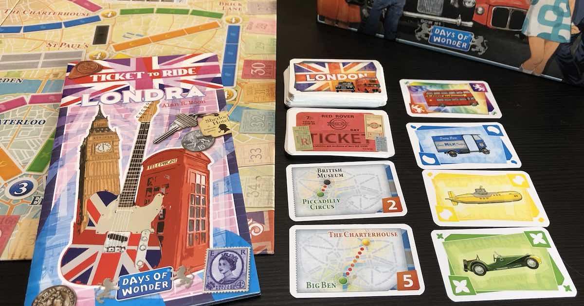 Ticket to Ride Londra - Materiali
