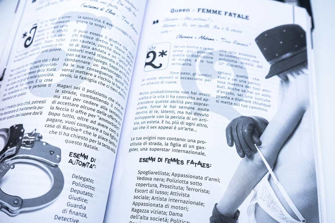L'interno del manuale di Violentina
