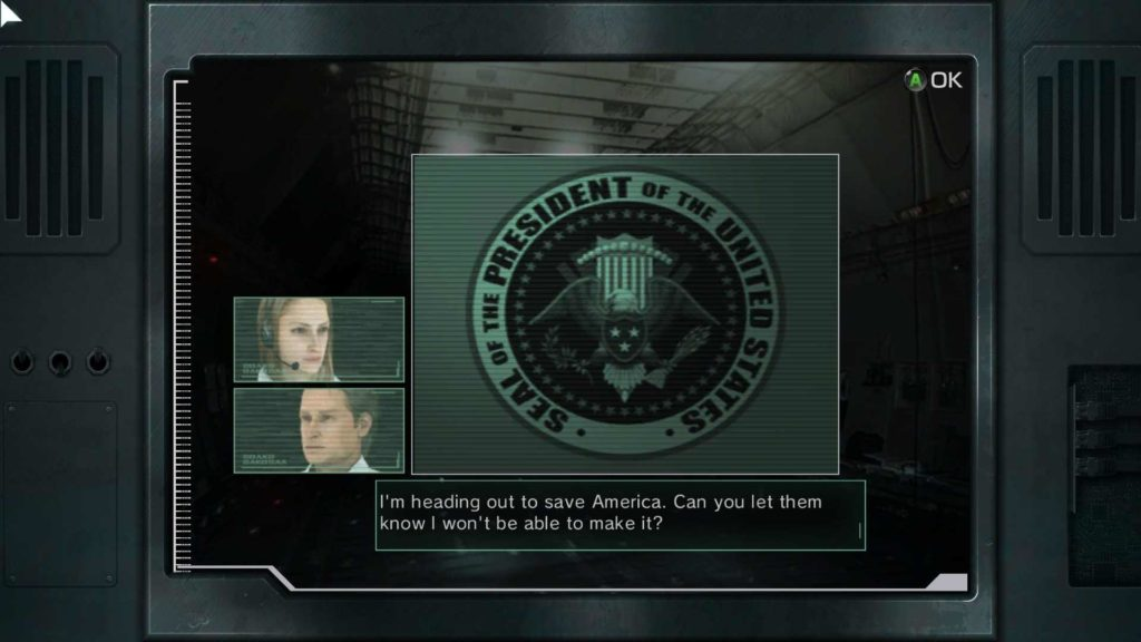 Metal Wolf Chaos XD dialogue