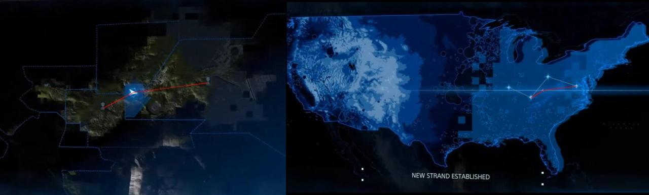 Death Stranding la mappa comprende l'intero nord america