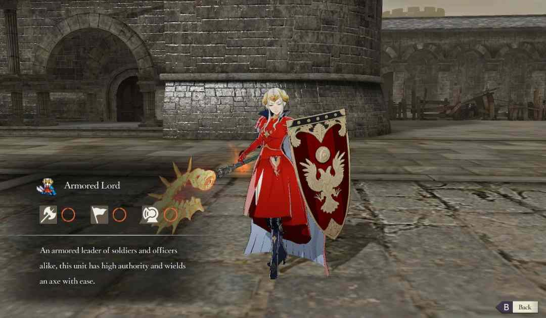 Screenshot dell'Armored Lord da Fire Emblem Three Houses