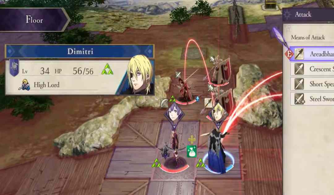 Screenshot dell'High Lord da Fire Emblem Three Houses