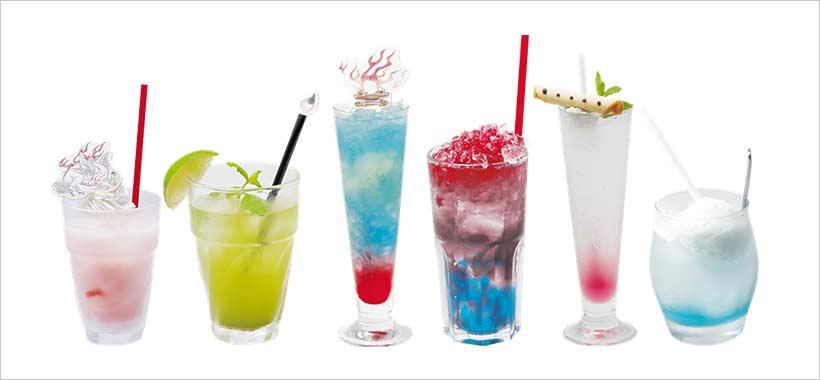 tutti i cocktail disponibili nel ristorante ispirato ad Okami