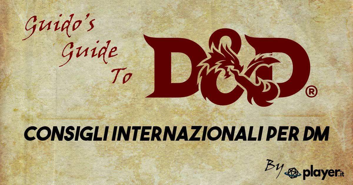 dnd Consigli internazionali per Dungeon MasterM D&D