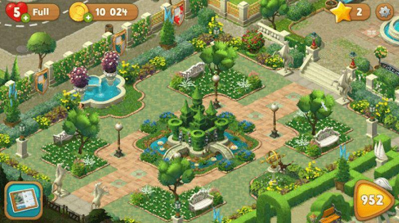 gardenscapes, gioca per passare il tempo in spiaggia
