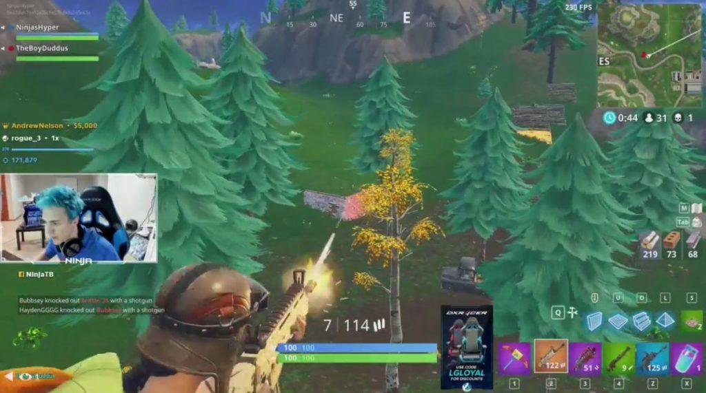 ninja twitch streaming fortnite