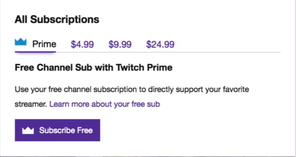 twitch subcriptions