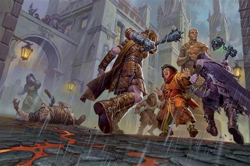 Una aggressione per le vie di Baldur's Gate