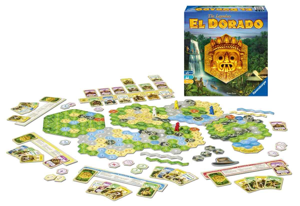 Componentistica del boardgame El Dorado
