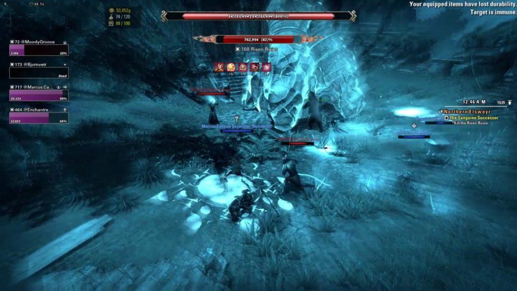 Una delle morti del mio personaggio in The Elder Scrolls Online
