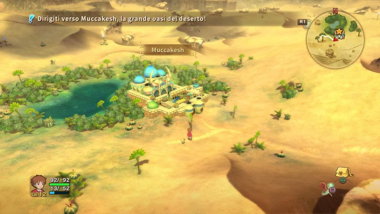 Ni no Kuni La minaccia della StMuccakesh è solo uno dei tanti luoghi che visiteremo nel vasto mondo di gioco.rega Cinerea™ Remastered Muccakesh