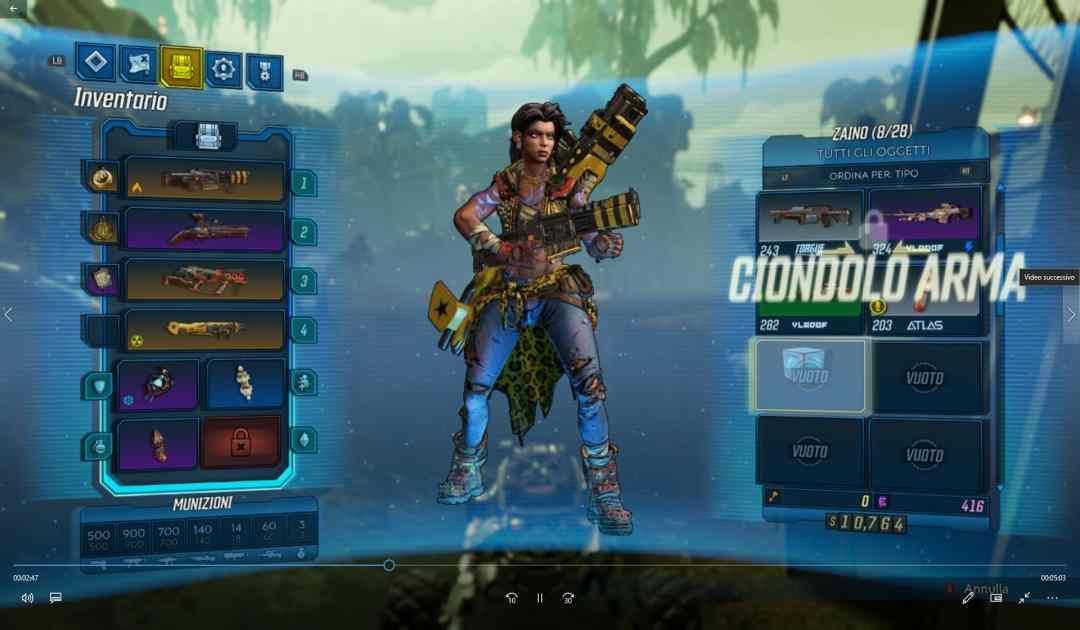 Borderlands 3 screenshot inventario