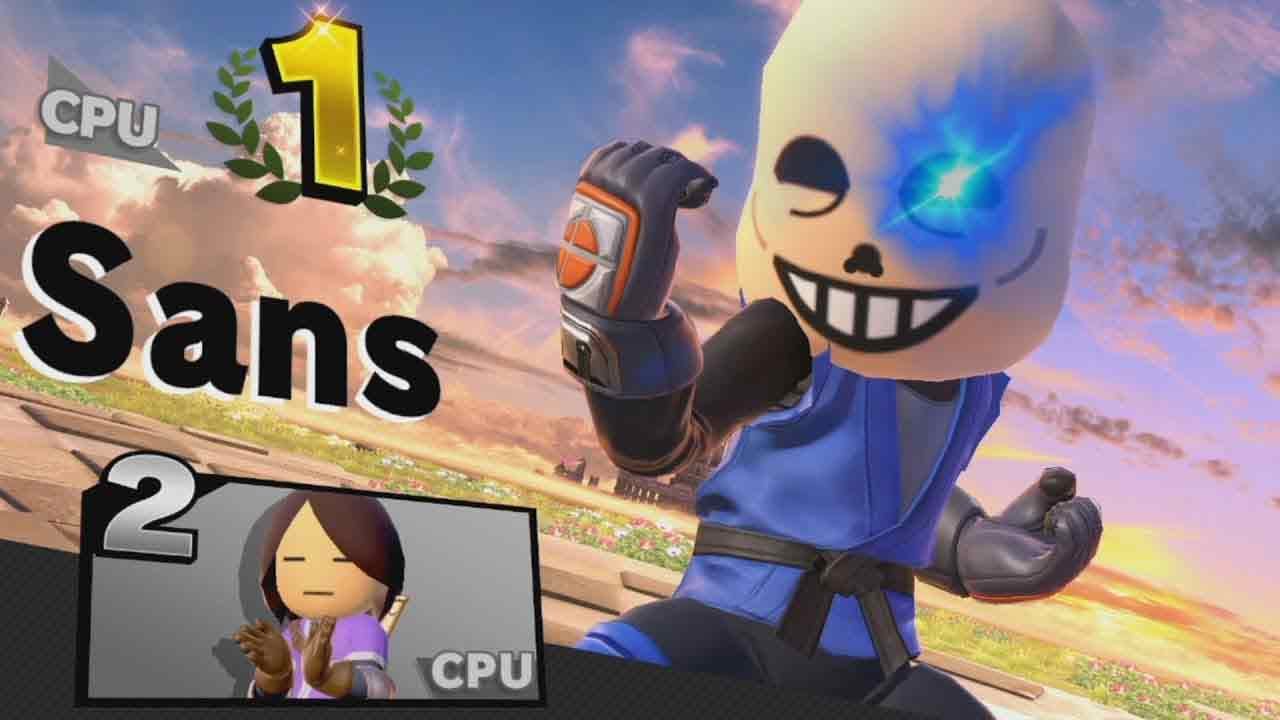 Sans-in-smash-in-una-versione-bootleg-del-mii-fighter