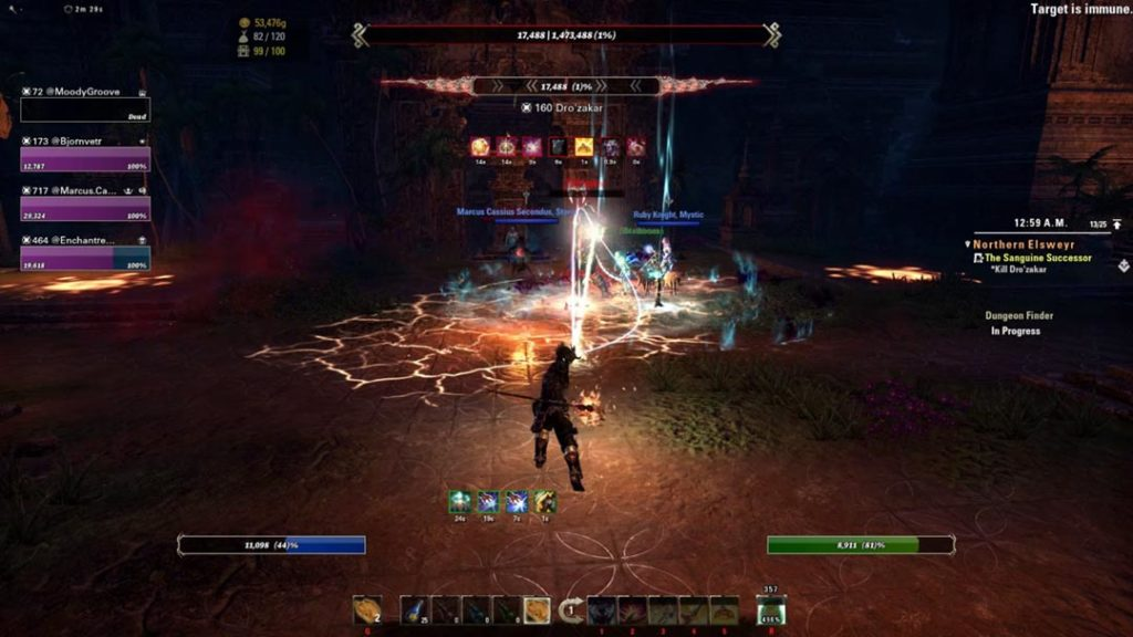 Una boss fight del DLC Scalebreaker di ESO