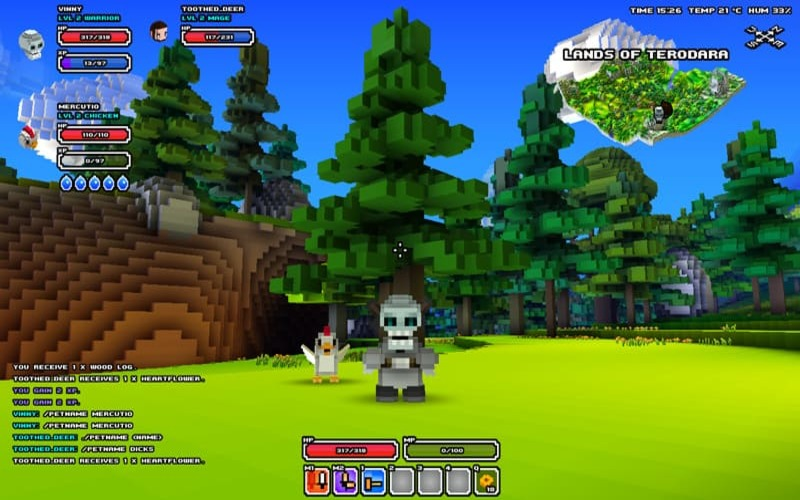 Una screen da Cube World