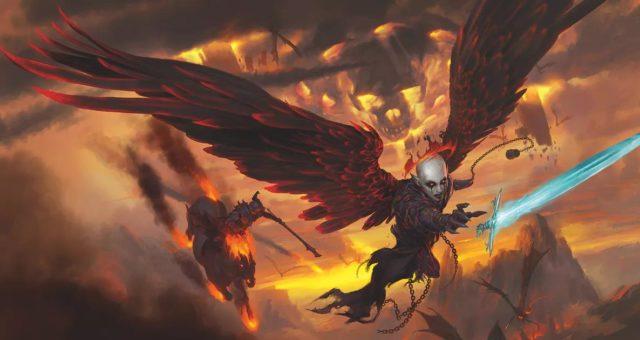 L'artwork di copertina di Baldur's Gate - Descent into Avernus