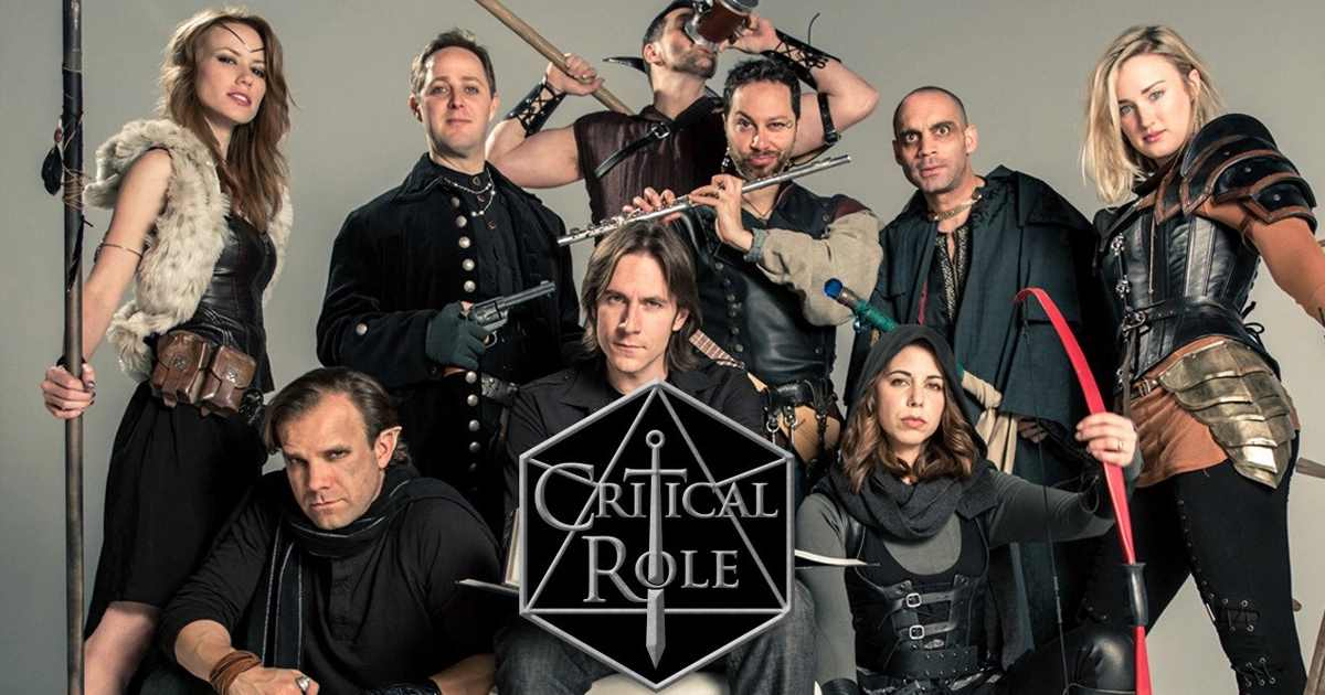 Il cast e il logo di Critical Role