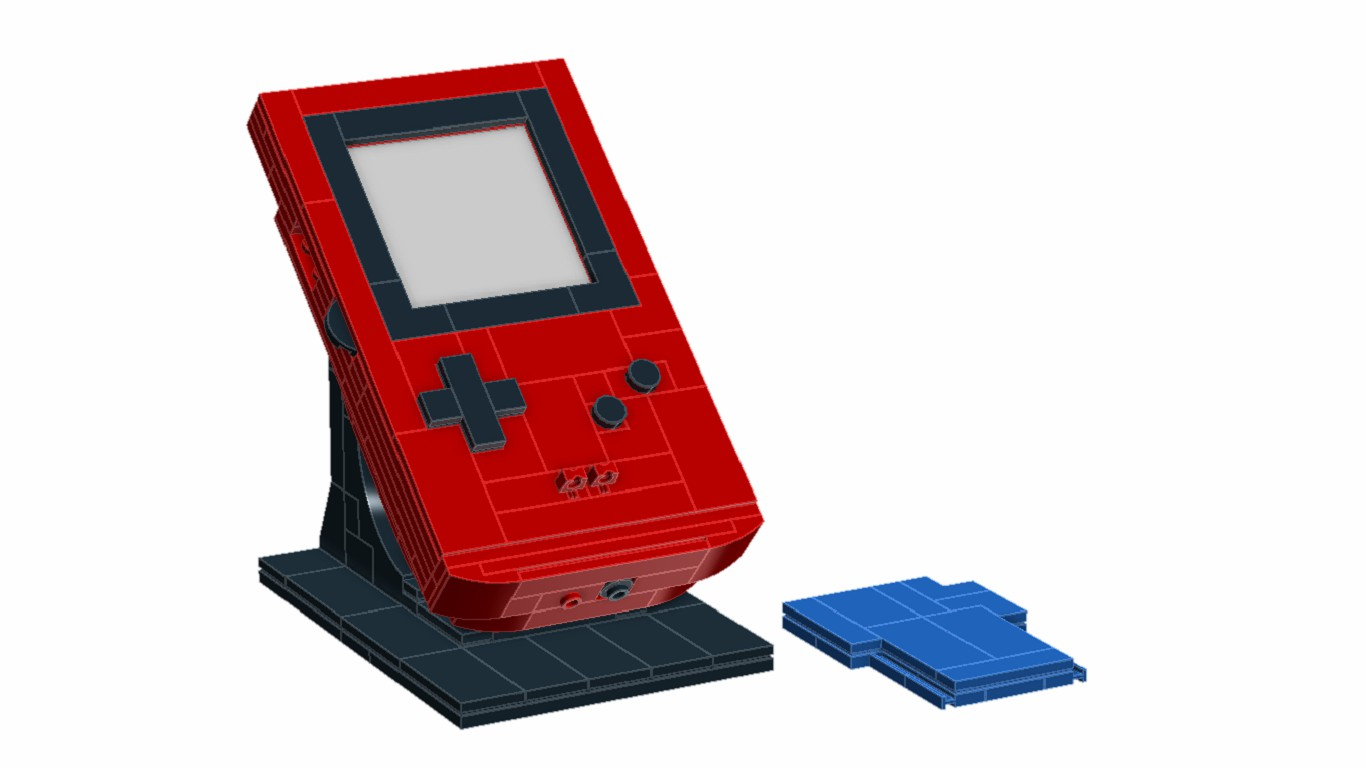 game boy color in lego