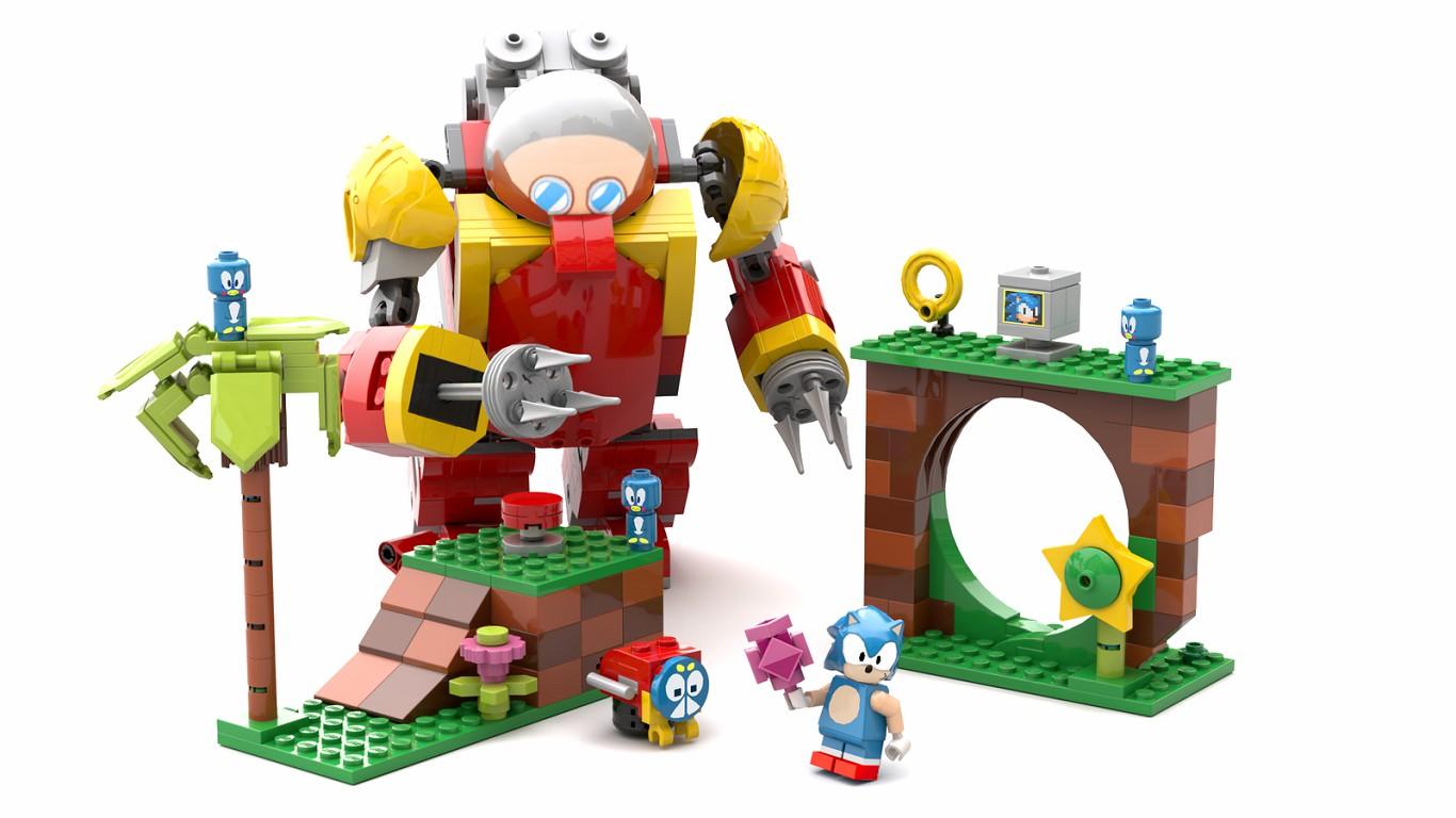 sonic mania in LEGO