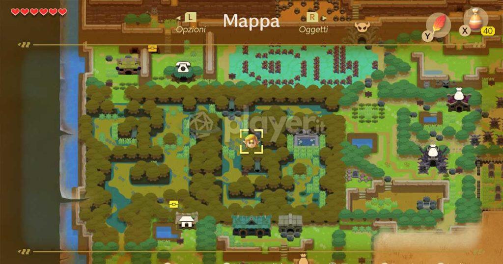 Link's Awakening Switch, come potenziare il sacchetto di polvere magica