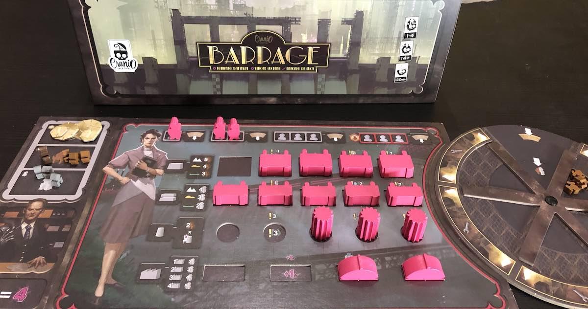 Barrage - plancia giocatore