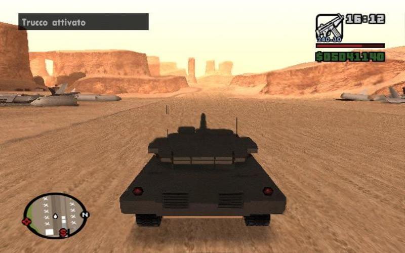 In giro col carro armato in GTA San Andreas